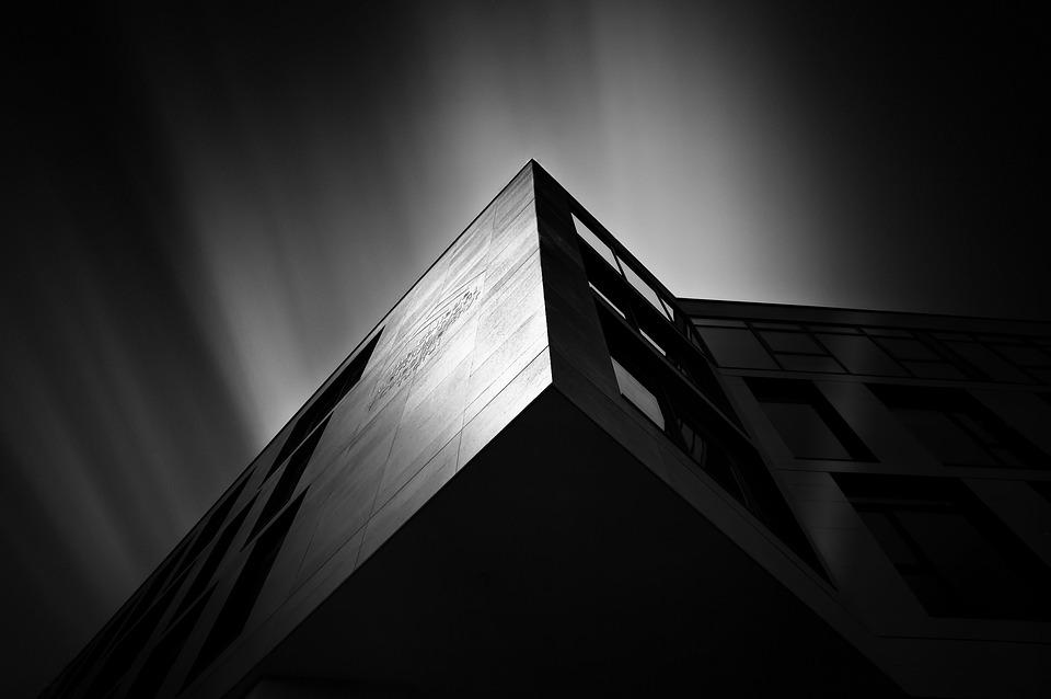 foto. edificio. bianco. nero. design. architettura.