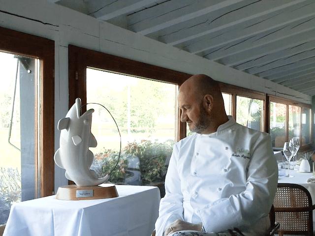 chef Renato Rizzardi ed il trofeo tagliapietre 2018