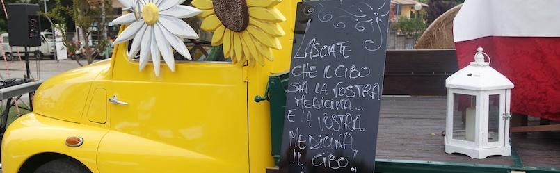 furgoncino. giallo. tavole. tauriliane. evento. torreglia. fiori. frase.