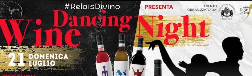 locandina. wine. dancing. night.