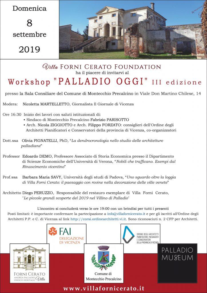 Workshop Palladio Oggi Villa Forni Cerato