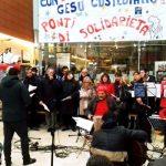 Natale 2019 la Santa Messa in stazione a Padova con i missionari comboniani per bisognosi senza dimora viaggiatori volontari laici e religiosi
