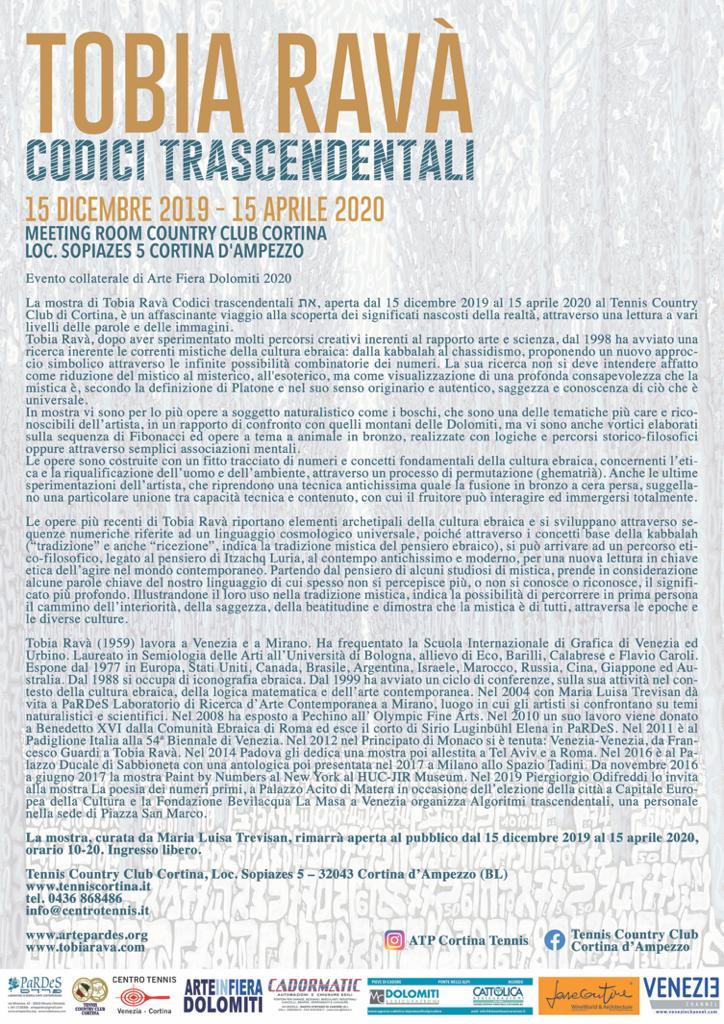 Tobia Ravà Codici Trascendentali Cortina