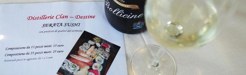 Distillerie Clan-Destine serata sushi