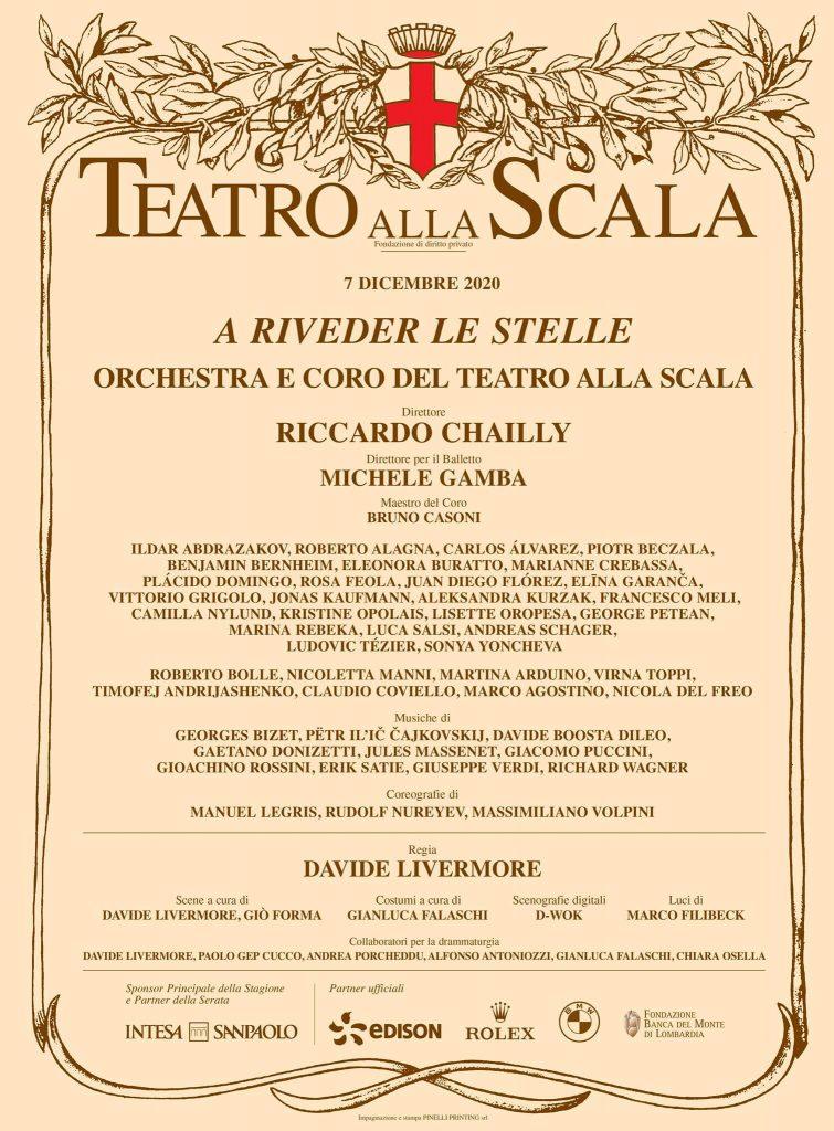 Prima del Teatro alla Scala, dicembre 2020