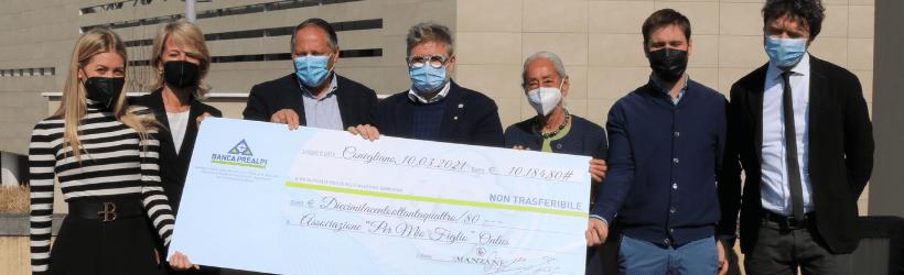 La cantina Le Manzane dona 10mila euro al reparto Covid di Treviso