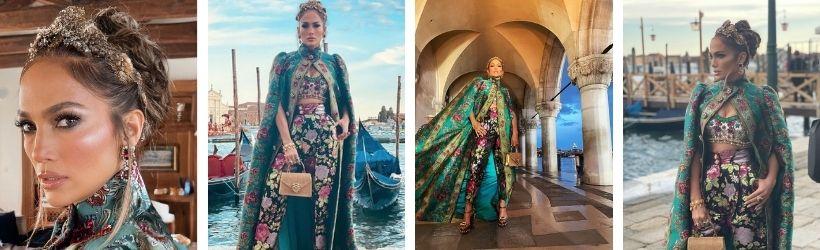 Jennifer Lopez alla sfilata Dolce & Gabbana, Venezia 2021